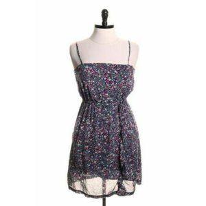Billabong Juliet Blue Floral Print Ruffle Dress